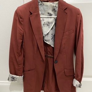 H&M Blazer with Floral Inner Detailing